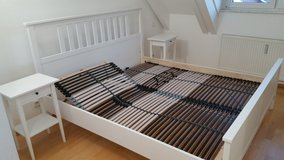 Double bed with adjustable bases and night tables in Stuttgart, GE