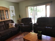 Reclining couch and loveseat in Travis AFB, California