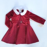 NWT 3T Kidture Red Faux Fur 2 PC Holiday Dress in Sugar Grove, Illinois