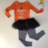 NWT 18M 3PC Carter's Halloween Tutu Outfit in Sugar Grove, Illinois