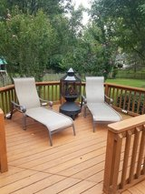 Two patio lounge chairs in Plainfield, Illinois