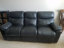 Black leather reclining couch in Nellis AFB, Nevada