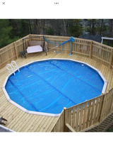 Solar pool blanket in Kingwood, Texas