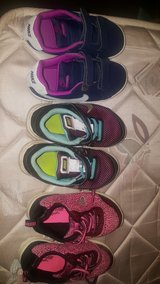 3 pairs of toddler size 10 tennis shoes in Biloxi, Mississippi
