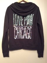 Pink black with sparkles light hoodie size S in Plainfield, Illinois