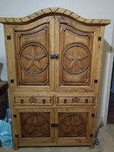 hand carved solid wood armoire in Cleveland, Texas