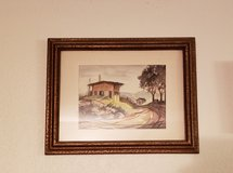 REDUCED Framed Watercolor scene in 29 Palms, California