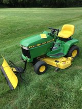 FANTASTIC JOHN DEERE LX188 LIKE NEW CLEAN TRACTOR WITH SNOW PLOW BLADE MANUAL YEAR AROUND MACHIN... in Yorkville, Illinois