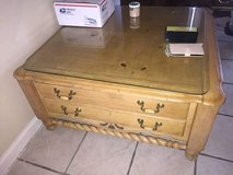 Solid wood coffee table in 29 Palms, California