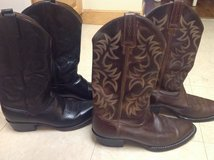 Men's Size 10 Real Leather Boots in Okinawa, Japan