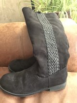 Girls Justice  Black Boots size 5 in Chicago, Illinois