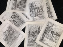 Sketches German Towns in Stuttgart, GE