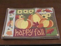 """Happy Fall"" placemats in Elgin, Illinois"