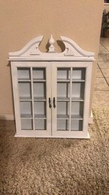 Small Wall cabinet with glass door (oil/nails polish/miniature items) in Kingwood, Texas