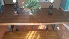 farm style kitchen table with bench in DeRidder, Louisiana