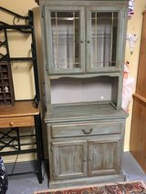 """Country hutch 75""""tall 16""""deep 33""""wide has a light in The Woodlands, Texas"""