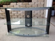Television Stand With 3 Glass Shelves in Naperville, Illinois