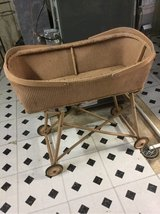 Old fashioned baby bassinet in Plainfield, Illinois