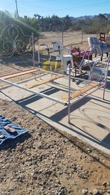 Antique twin bed frame in Yucca Valley, California