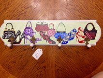 BRAND NEW!! HANDPAINTED FASHION CLOTHES JEWELRY WALL HANGER in Plainfield, Illinois