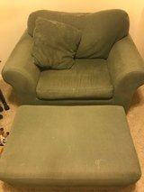 Corduroy Over-sized Chair and Ottoman in The Woodlands, Texas