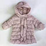 NWT 0-6M BabyGap Water Repellent Pink Warmest Puffer Hooded Coat in Glendale Heights, Illinois