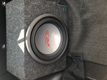 Alpine type r 12 subwoofer with Rockford phosphate punch amp in Fort Campbell, Kentucky