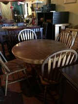 Solid Oak Dinette Table (large pedestal) and Chairs in Fort Polk, Louisiana