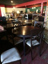 Solid Wood Dinette Table w/Leaf and 6 Chairs in DeRidder, Louisiana