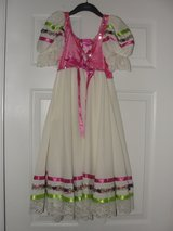 HALLOWEEN COSTUME BALLET DRESS WITH FLOWER CROWN SIZE L CHILD (10/12) in Camp Lejeune, North Carolina
