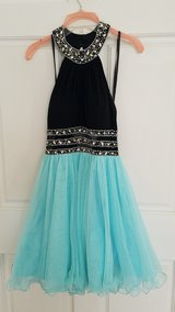 home coming or pron dress (light blue and black) in Warner Robins, Georgia
