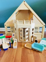Melissa & Doug Dollhouse plus furniture - PRICE LOWERED in Travis AFB, California