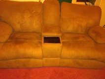 Dual Recliner Couch with Center Console in Alamogordo, New Mexico