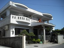 Big single house in Okinawa City in Okinawa, Japan