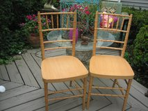 2 vintage bamboo style side chairs in Westmont, Illinois