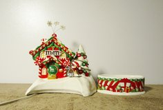 """M&M's Department 56 Ceramic Christmas """"Candy House"""" w/ Dish and Light 2004 in Fort Campbell, Kentucky"""