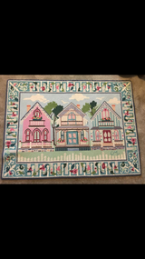 Claire Murray Victorian cottages handhooked area rug in Pensacola, Florida
