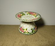 Salt City Candle Beautiful Ceramic Floral Shade & Plate in Fort Campbell, Kentucky