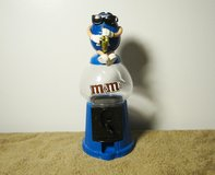 """Mars M&M's Blue """"Saxophone Player"""" Gumball Style Dispenser & Bank 2008 in Fort Campbell, Kentucky"""