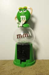 Mars M&M Green Candy Gumball Machine Style Dispenser & Bank 2008 in Fort Campbell, Kentucky