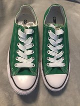 Green converse size 5/7 unisex worn on stage 3 times for dance recital excellent condition in Shorewood, Illinois