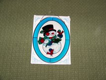 Christmas Snowman Sun Catcher  Joan Baker Designs in Joliet, Illinois