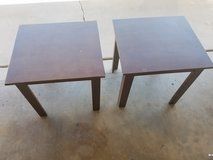 2 brown wood end tables in Phoenix, Arizona