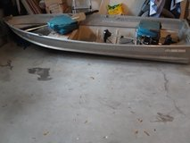 14' john boat w/ trolling motor, batery and accessories in MacDill AFB, FL