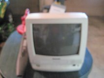 14 in color tv with built in vhs tape  player and am-fm radio,all works good,PANASONIC,WHITE in Fort Knox, Kentucky