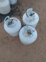 Propane tanks lot in Yucca Valley, California