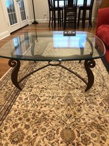 Glass and Metal Coffee Table in Aurora, Illinois