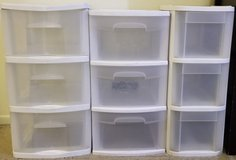 3 Drawer Plastic Drawers (3 sets) in Fort Irwin, California