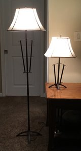 2 lamps - Mission style - bronze in Joliet, Illinois
