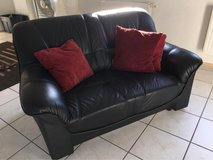 Black Leather Couch in Ramstein, Germany